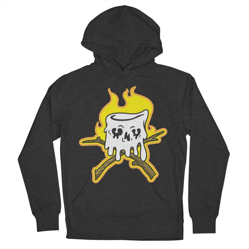 S'more Skull and Cross Sticks Large Front Men's French Terry Pullover Hoody by Logo Mo Doodles, Drawings, and Designs