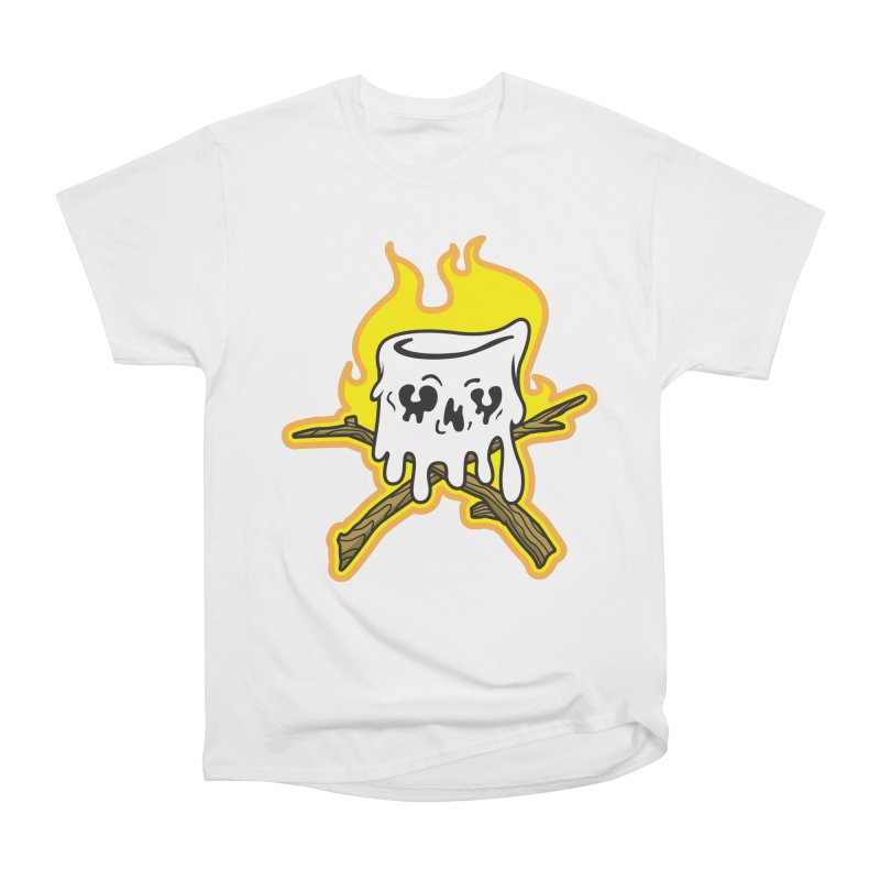 S'more Skull and Cross Sticks Large Front Men's Heavyweight T-Shirt by Logo Mo Doodles, Drawings, and Designs