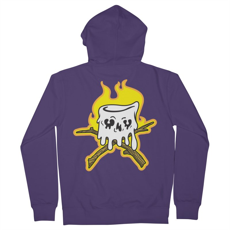S'more Skull and Cross Sticks Large Front Women's French Terry Zip-Up Hoody by Logo Mo Doodles, Drawings, and Designs