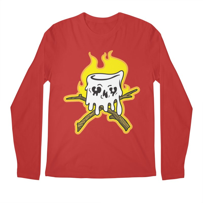 S'more Skull and Cross Sticks Large Front Men's Regular Longsleeve T-Shirt by Logo Mo Doodles, Drawings, and Designs