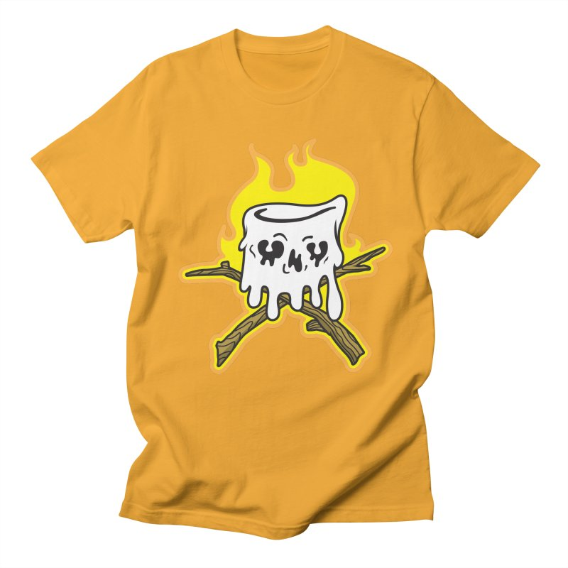 S'more Skull and Cross Sticks Large Front Women's Regular Unisex T-Shirt by Logo Mo Doodles, Drawings, and Designs