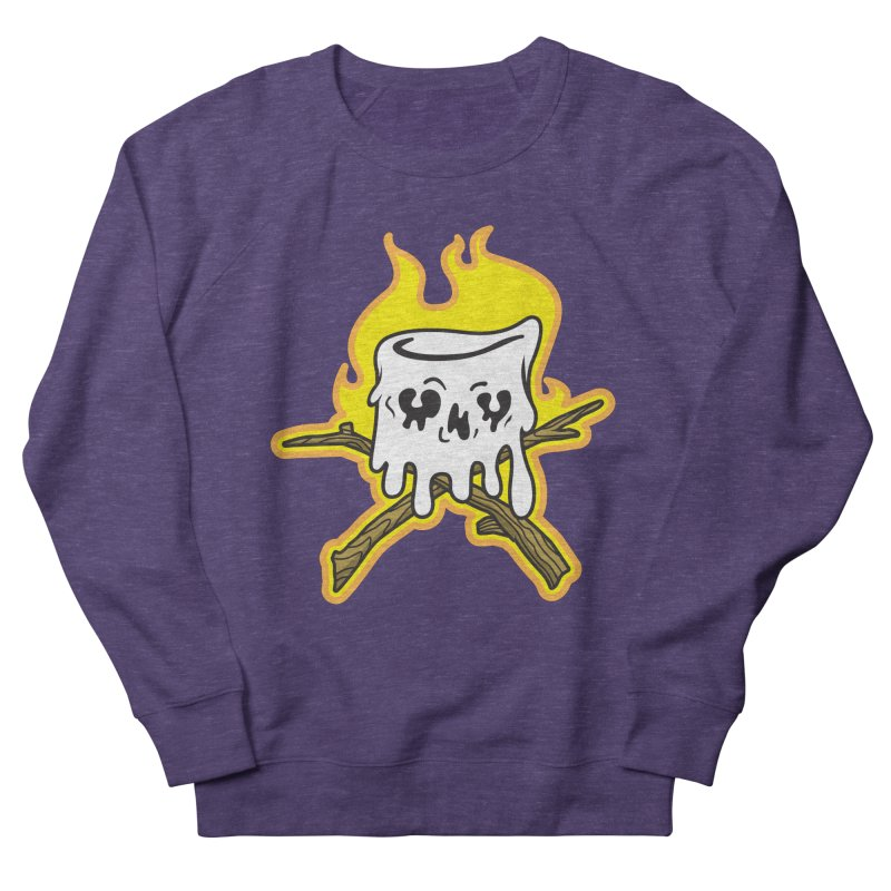 S'more Skull and Cross Sticks Large Front Women's French Terry Sweatshirt by Logo Mo Doodles, Drawings, and Designs