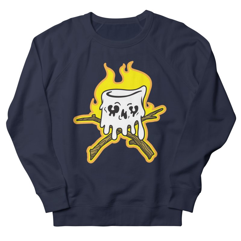 S'more Skull and Cross Sticks Large Front Men's French Terry Sweatshirt by Logo Mo Doodles, Drawings, and Designs