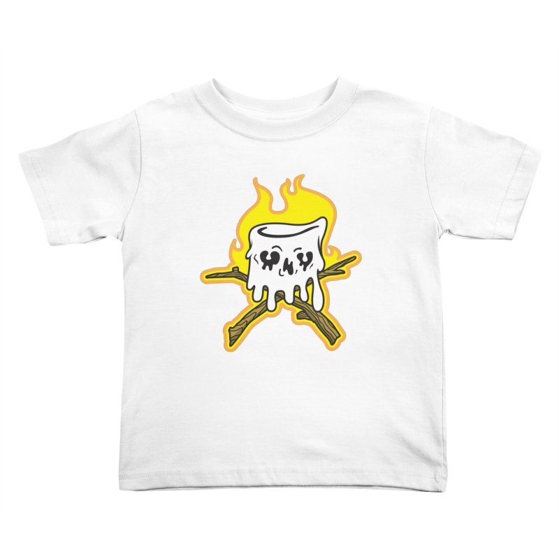 S'more Skull and Cross Sticks Large Front Kids Toddler T-Shirt by Logo Mo Doodles, Drawings, and Designs