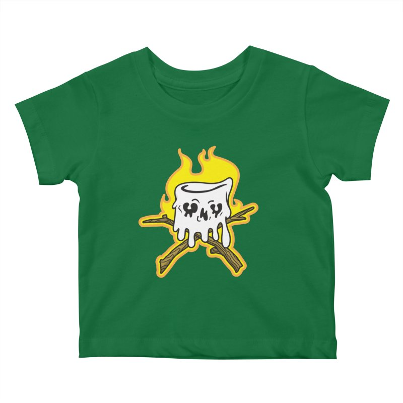 S'more Skull and Cross Sticks Large Front Kids Baby T-Shirt by Logo Mo Doodles, Drawings, and Designs