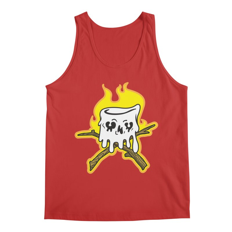 S'more Skull and Cross Sticks Large Front Men's Regular Tank by Logo Mo Doodles, Drawings, and Designs