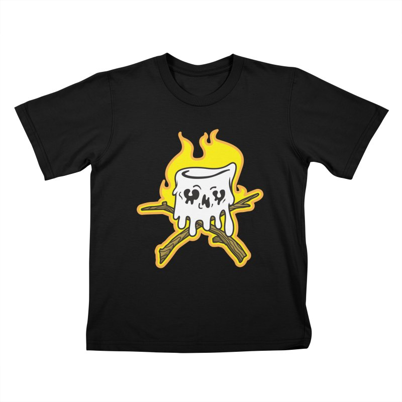 S'more Skull and Cross Sticks Large Front Kids T-Shirt by Logo Mo Doodles, Drawings, and Designs