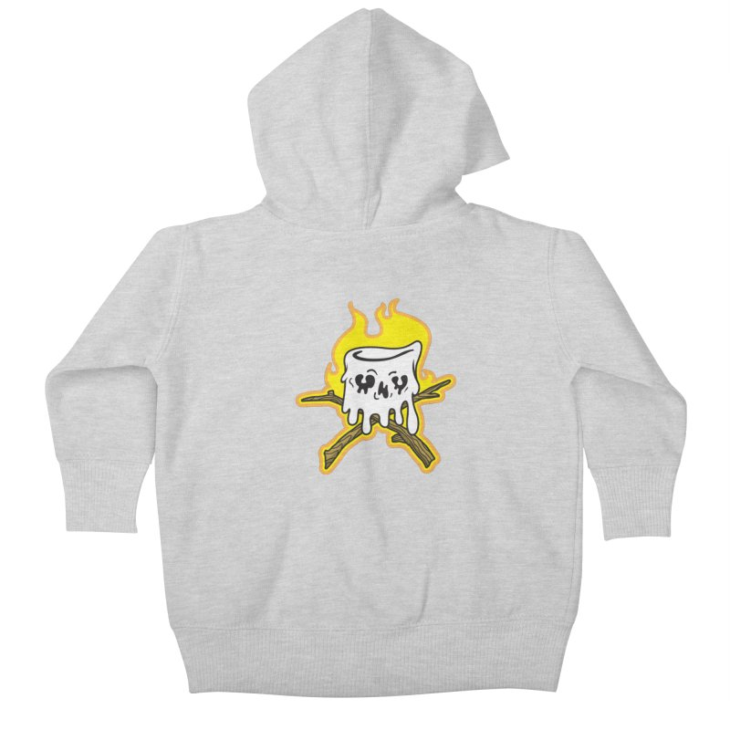 S'more Skull and Cross Sticks Large Front Kids Baby Zip-Up Hoody by Logo Mo Doodles, Drawings, and Designs