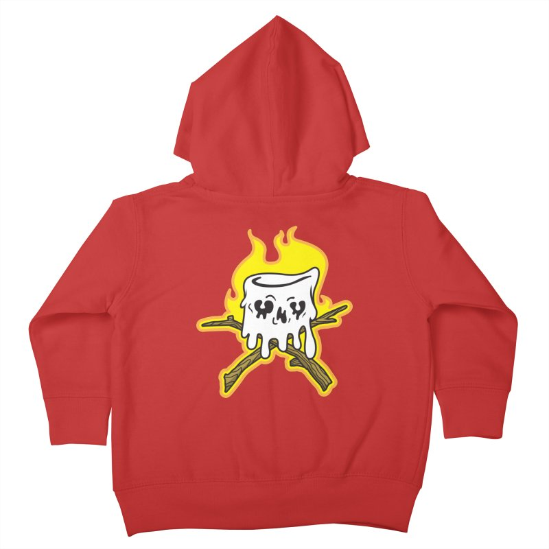 S'more Skull and Cross Sticks Large Front Kids Toddler Zip-Up Hoody by Logo Mo Doodles, Drawings, and Designs