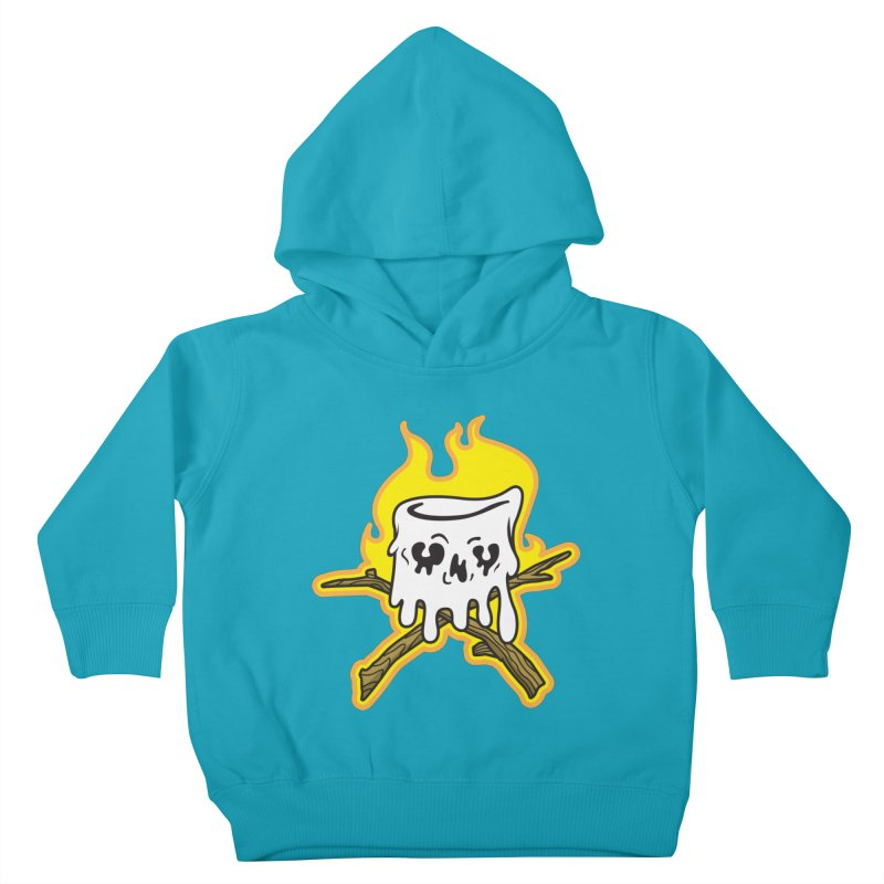 S'more Skull and Cross Sticks Large Front Kids Toddler Pullover Hoody by Logo Mo Doodles, Drawings, and Designs
