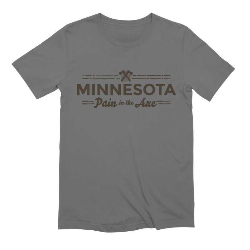 MN Pain in the Axe (dark) Men's Extra Soft T-Shirt by Logo Mo Doodles, Drawings, and Designs