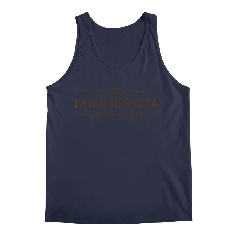 MN Pain in the Axe (dark) Men's Regular Tank by Logo Mo Doodles, Drawings, and Designs