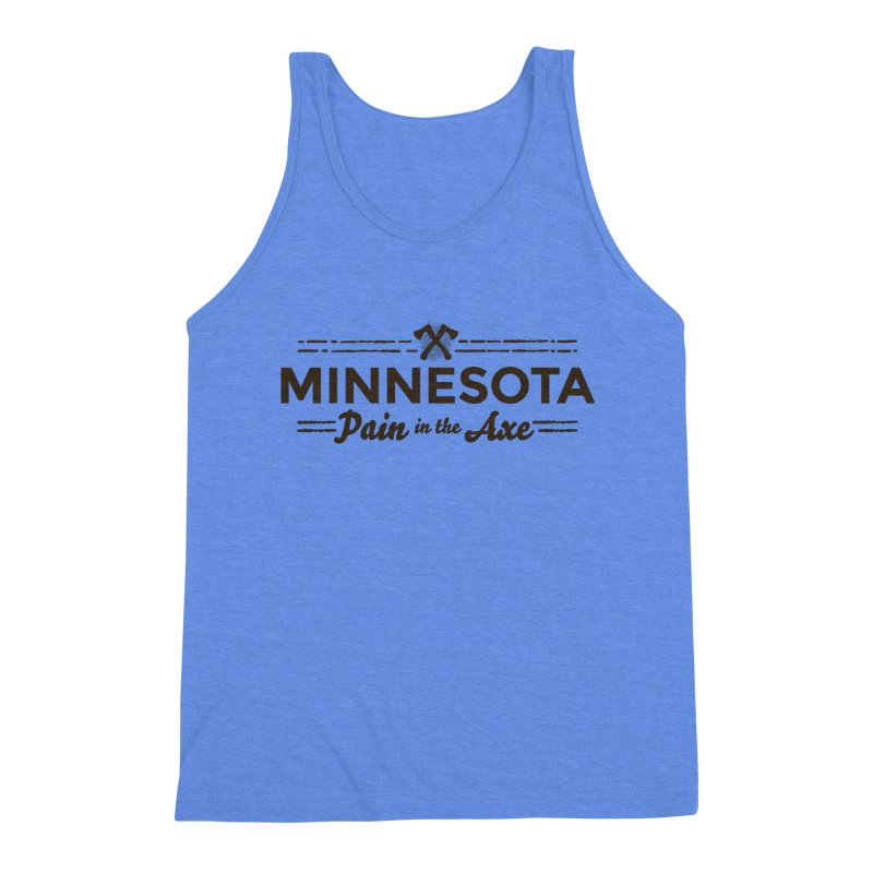 MN Pain in the Axe (dark) Men's Triblend Tank by Logo Mo Doodles, Drawings, and Designs