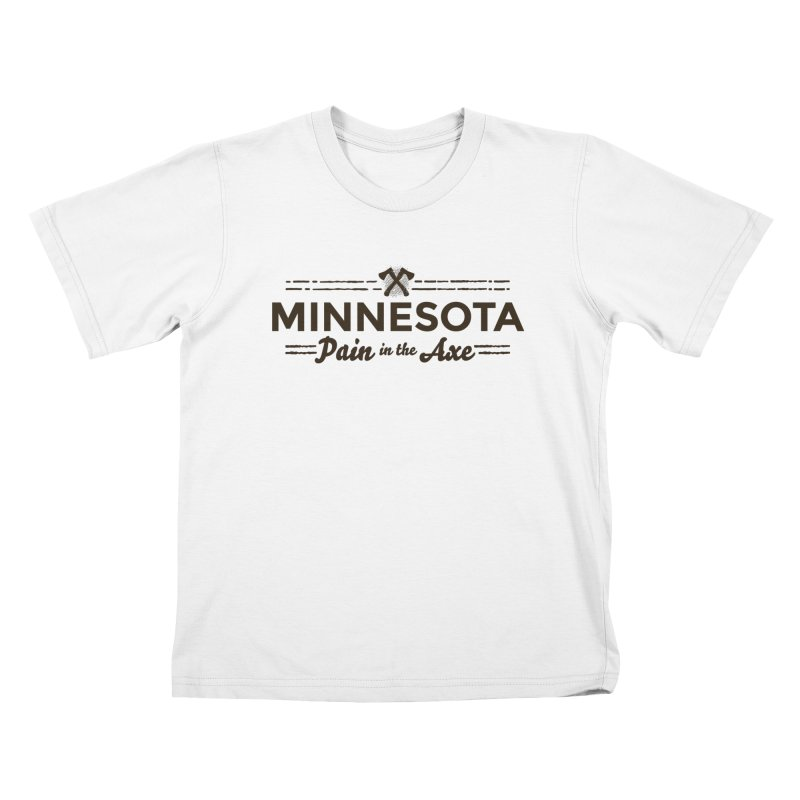 MN Pain in the Axe (dark) Kids T-Shirt by Logo Mo Doodles, Drawings, and Designs