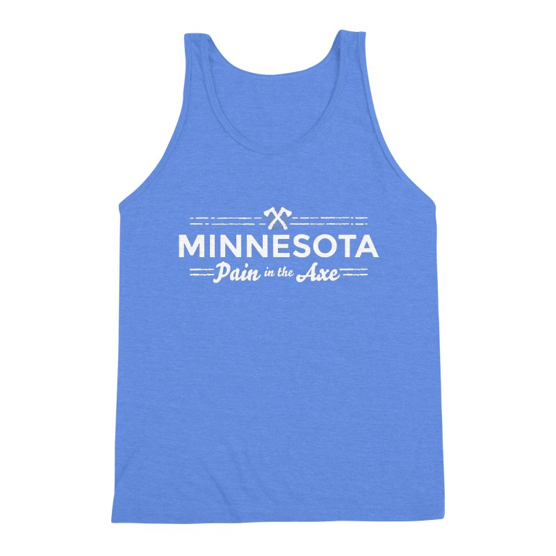 MN Pain in the Axe (white) Men's Triblend Tank by Logo Mo Doodles, Drawings, and Designs