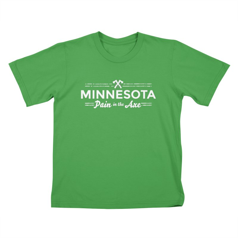 MN Pain in the Axe (white) Kids T-Shirt by Logo Mo Doodles, Drawings, and Designs