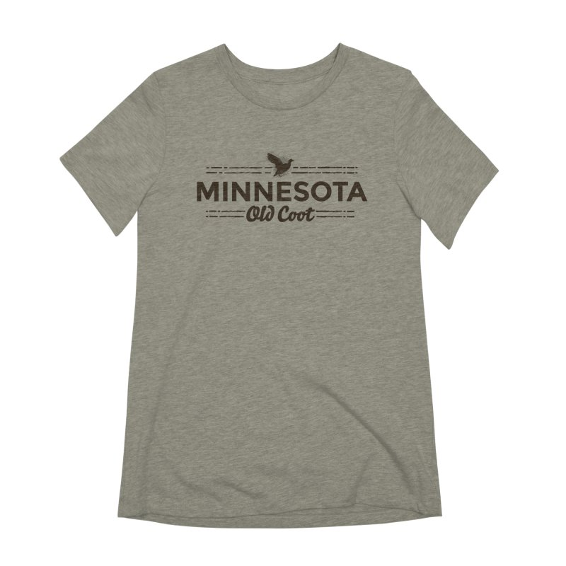 MN Old Coot (dark) Women's Extra Soft T-Shirt by Logo Mo Doodles, Drawings, and Designs