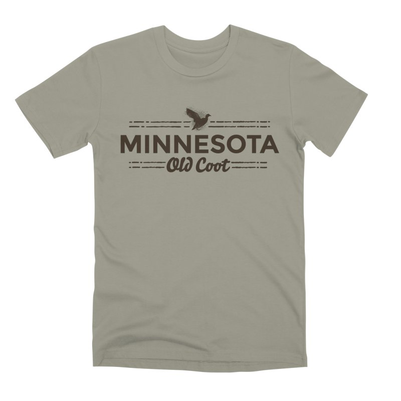 MN Old Coot (dark) Men's Premium T-Shirt by Logo Mo Doodles, Drawings, and Designs