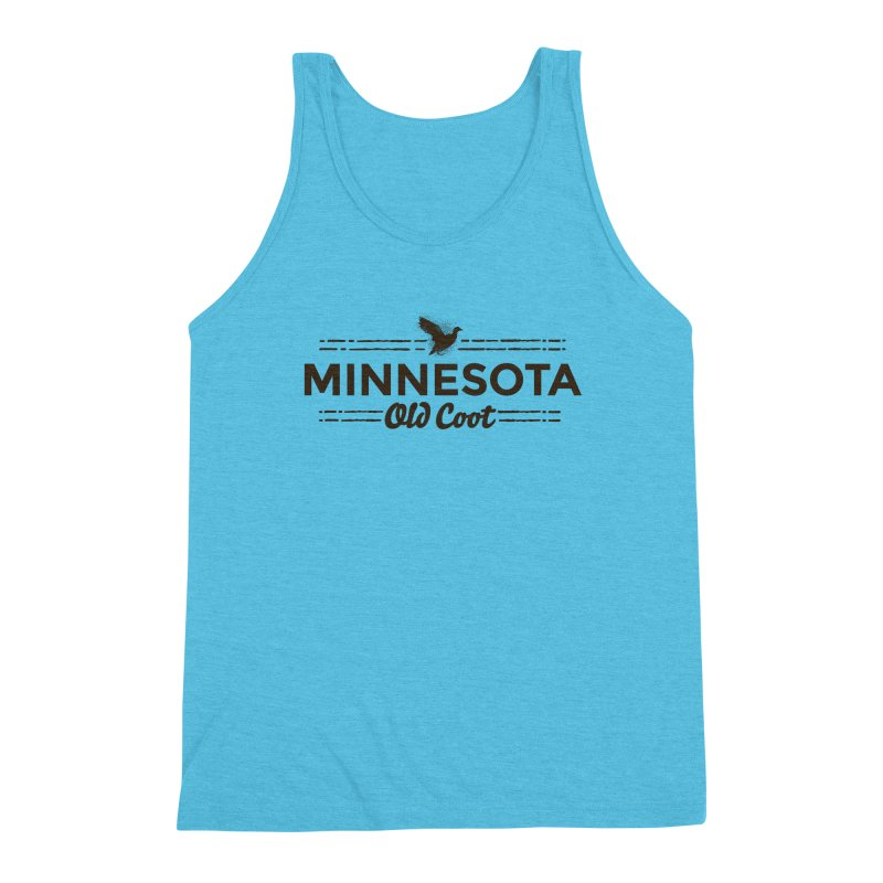 MN Old Coot (dark) Men's Triblend Tank by Logo Mo Doodles, Drawings, and Designs