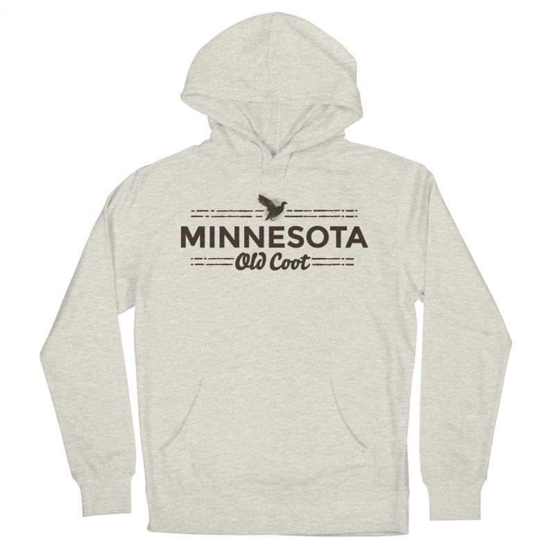 MN Old Coot (dark) Men's French Terry Pullover Hoody by Logo Mo Doodles, Drawings, and Designs