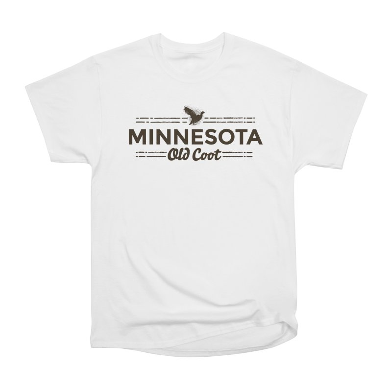 MN Old Coot (dark) Women's Heavyweight Unisex T-Shirt by Logo Mo Doodles, Drawings, and Designs