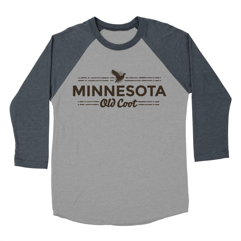 MN Old Coot (dark) Men's Baseball Triblend Longsleeve T-Shirt by Logo Mo Doodles, Drawings, and Designs