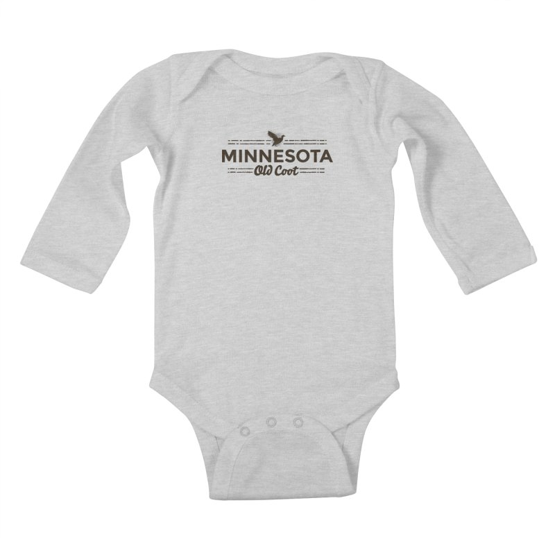 MN Old Coot (dark) Kids Baby Longsleeve Bodysuit by Logo Mo Doodles, Drawings, and Designs