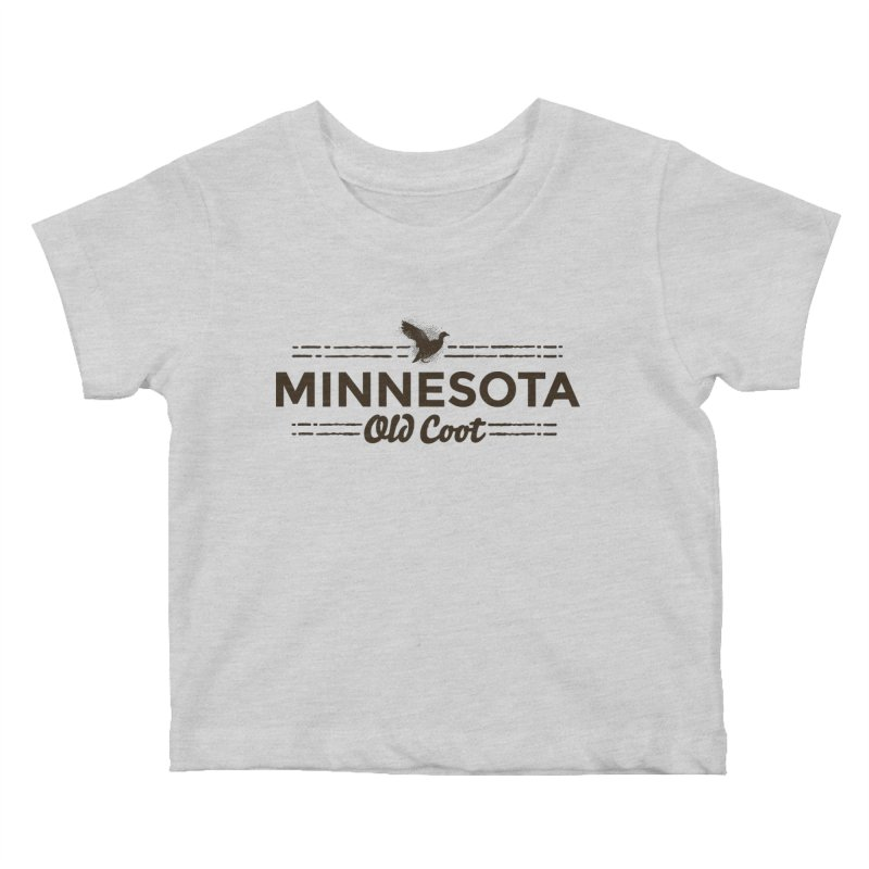 MN Old Coot (dark) Kids Baby T-Shirt by Logo Mo Doodles, Drawings, and Designs