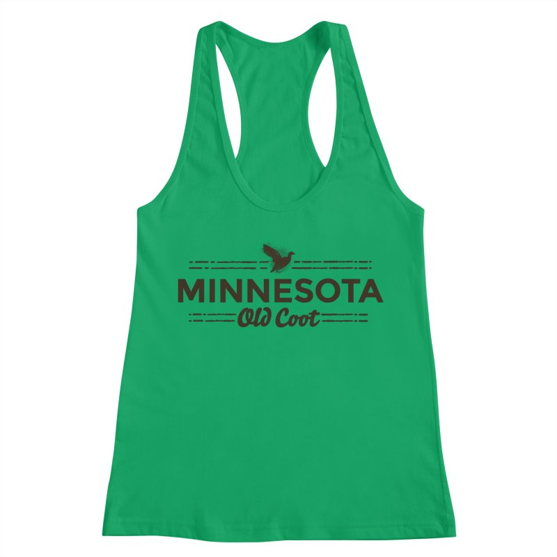 MN Old Coot (dark) Women's Racerback Tank by Logo Mo Doodles, Drawings, and Designs