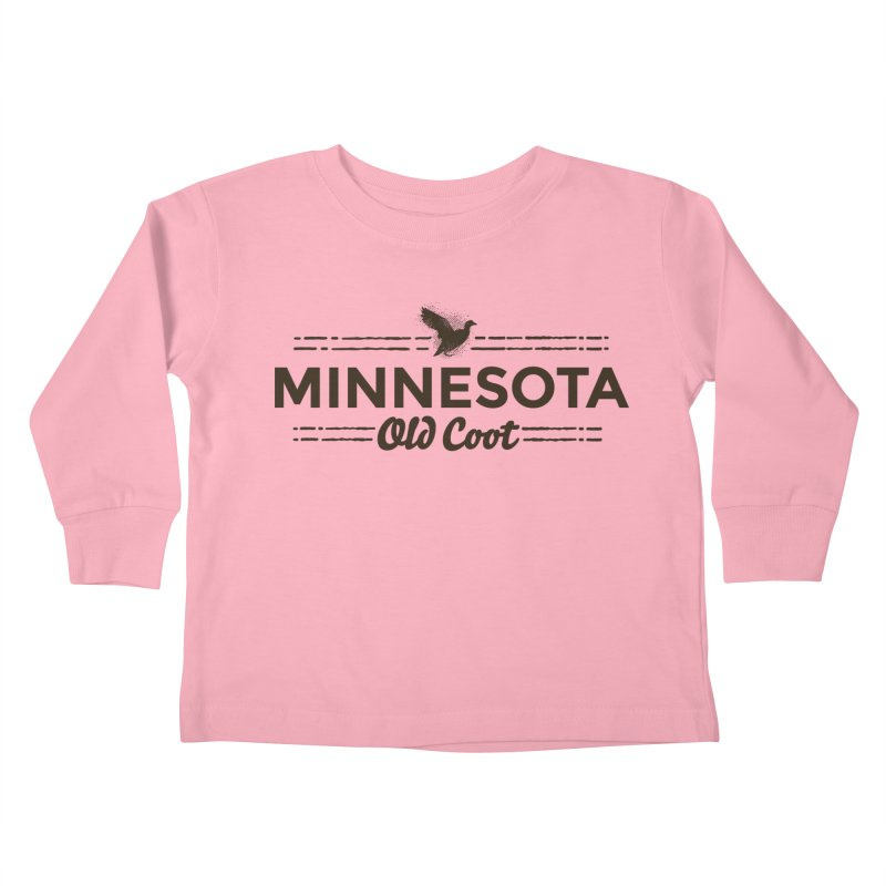 MN Old Coot (dark) Kids Toddler Longsleeve T-Shirt by Logo Mo Doodles, Drawings, and Designs