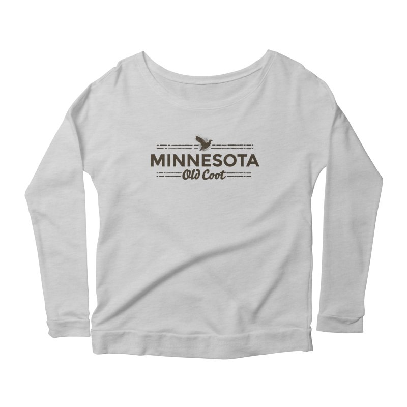 MN Old Coot (dark) Women's Scoop Neck Longsleeve T-Shirt by Logo Mo Doodles, Drawings, and Designs