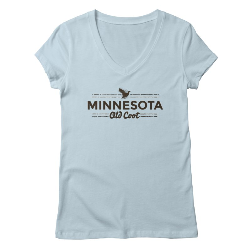 MN Old Coot (dark) Women's Regular V-Neck by Logo Mo Doodles, Drawings, and Designs