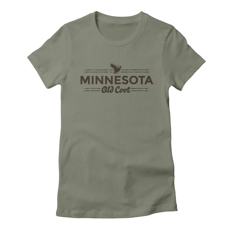 MN Old Coot (dark) Women's Fitted T-Shirt by Logo Mo Doodles, Drawings, and Designs