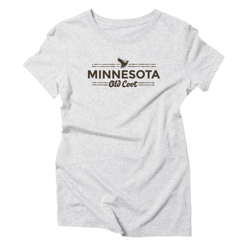 MN Old Coot (dark) Women's Triblend T-Shirt by Logo Mo Doodles, Drawings, and Designs