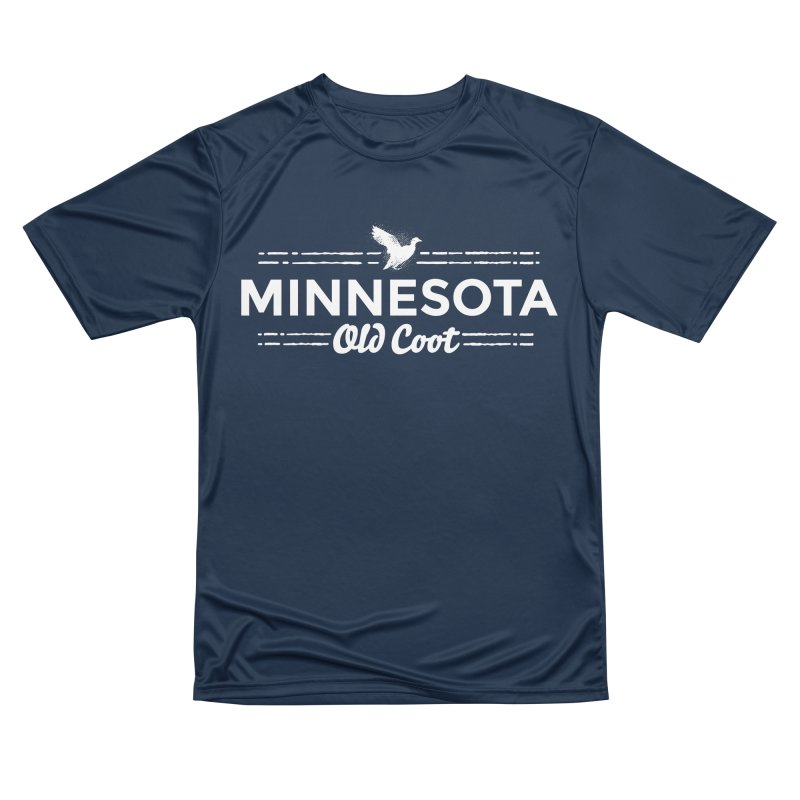 MN Old Coot (white) Men's Performance T-Shirt by Logo Mo Doodles, Drawings, and Designs
