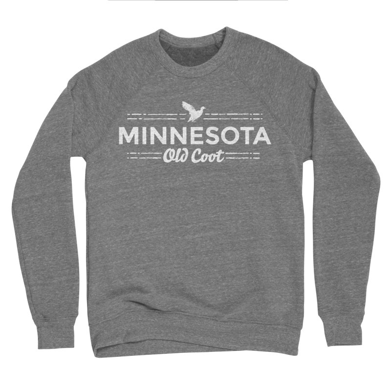 MN Old Coot (white) Women's Sponge Fleece Sweatshirt by Logo Mo Doodles, Drawings, and Designs