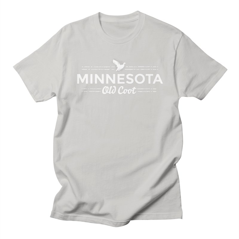 MN Old Coot (white) Men's Regular T-Shirt by Logo Mo Doodles, Drawings, and Designs