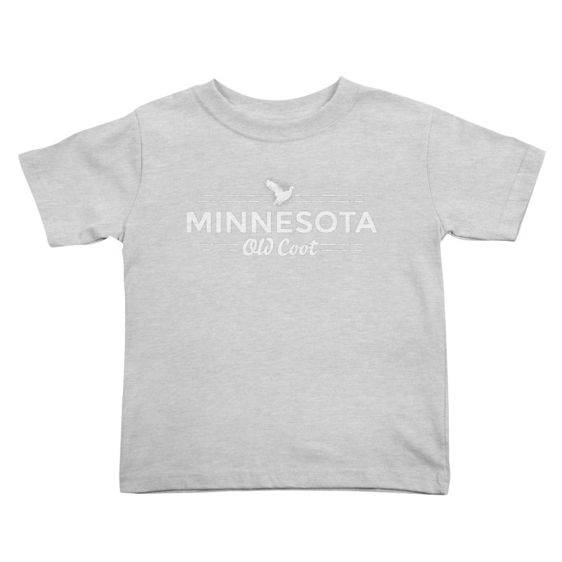 MN Old Coot (white) Kids Toddler T-Shirt by Logo Mo Doodles, Drawings, and Designs