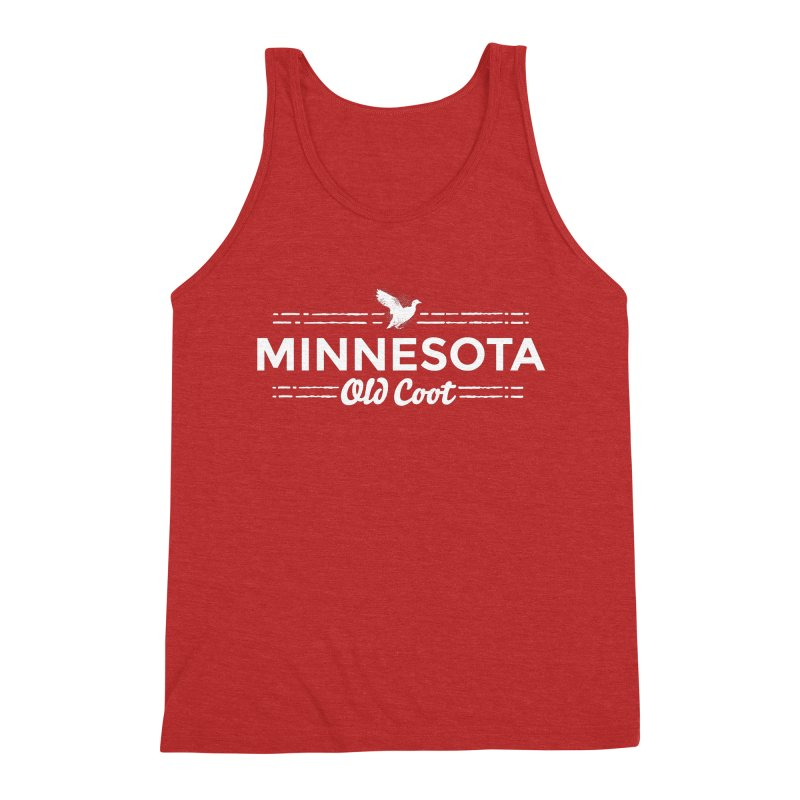 MN Old Coot (white) Men's Triblend Tank by Logo Mo Doodles, Drawings, and Designs