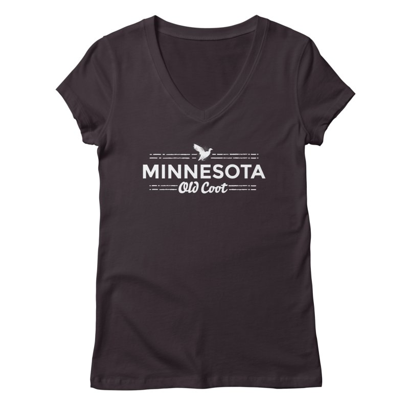 MN Old Coot (white) Women's Regular V-Neck by Logo Mo Doodles, Drawings, and Designs
