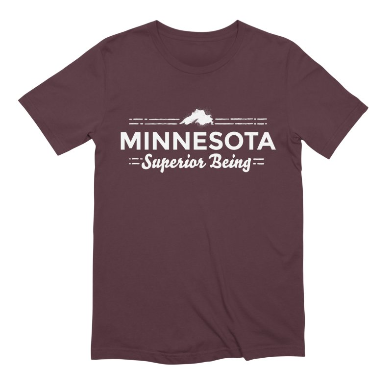 MN Superior Being (white) Men's Extra Soft T-Shirt by Logo Mo Doodles, Drawings, and Designs