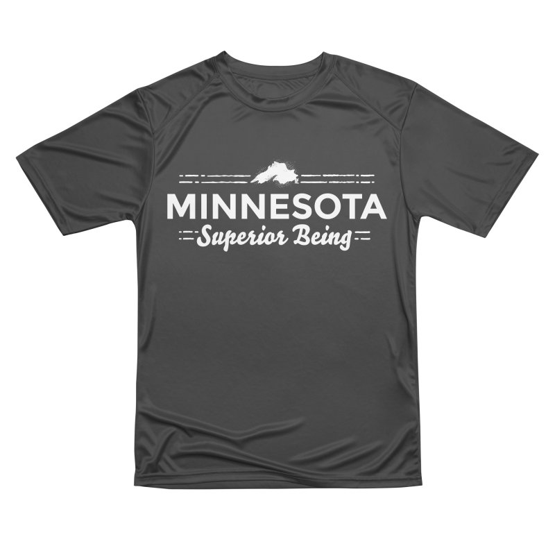 MN Superior Being (white) Women's Performance Unisex T-Shirt by Logo Mo Doodles, Drawings, and Designs