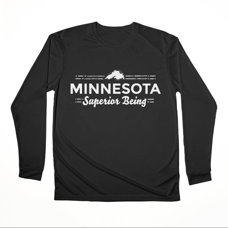 MN Superior Being (white) Men's Performance Longsleeve T-Shirt by Logo Mo Doodles, Drawings, and Designs