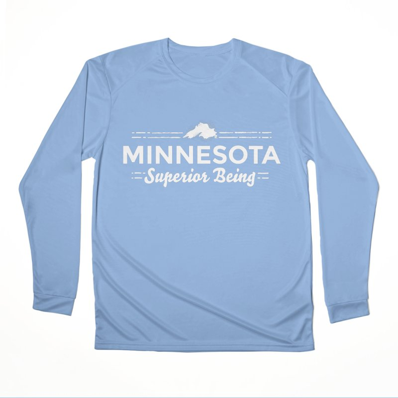 MN Superior Being (white) Women's Performance Unisex Longsleeve T-Shirt by Logo Mo Doodles, Drawings, and Designs
