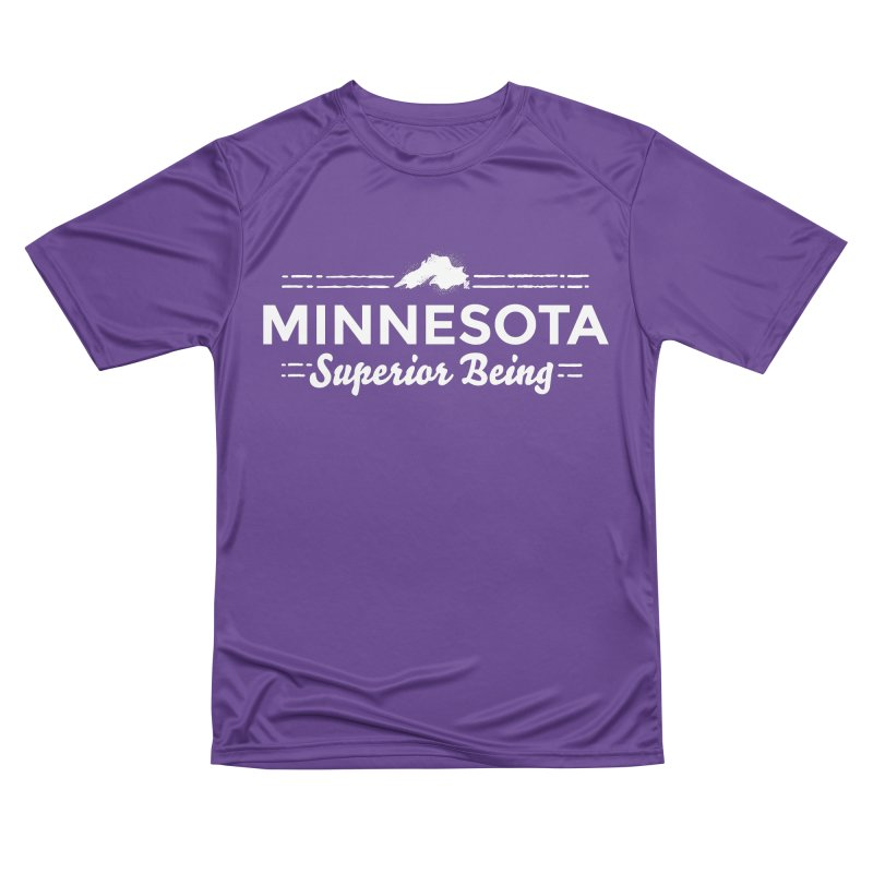 MN Superior Being (white) Men's Performance T-Shirt by Logo Mo Doodles, Drawings, and Designs