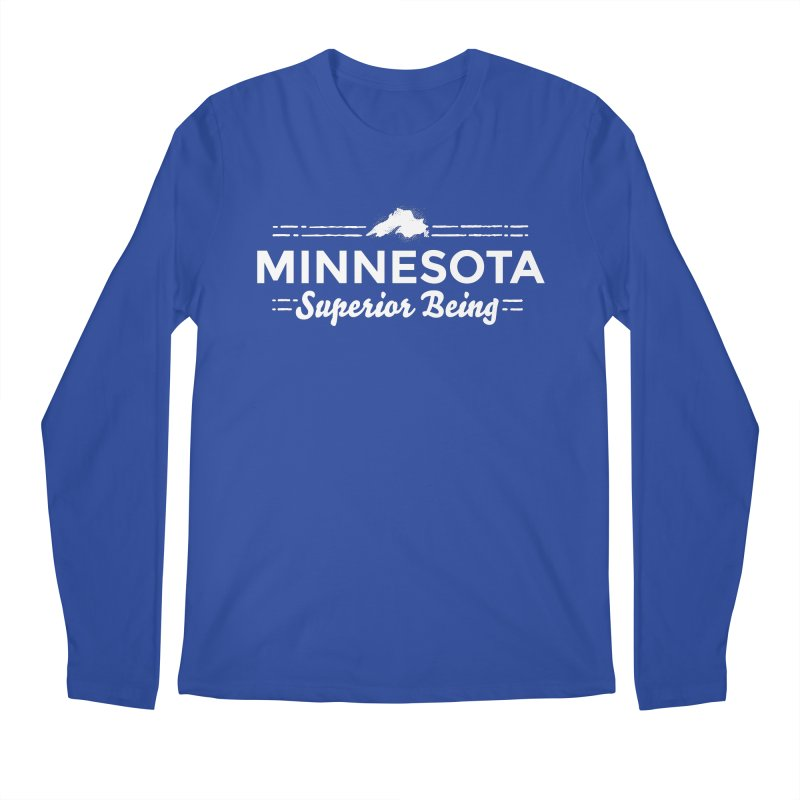 MN Superior Being (white) Men's Regular Longsleeve T-Shirt by Logo Mo Doodles, Drawings, and Designs