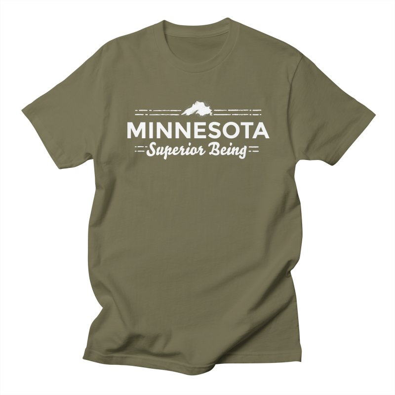 MN Superior Being (white) Men's Regular T-Shirt by Logo Mo Doodles, Drawings, and Designs