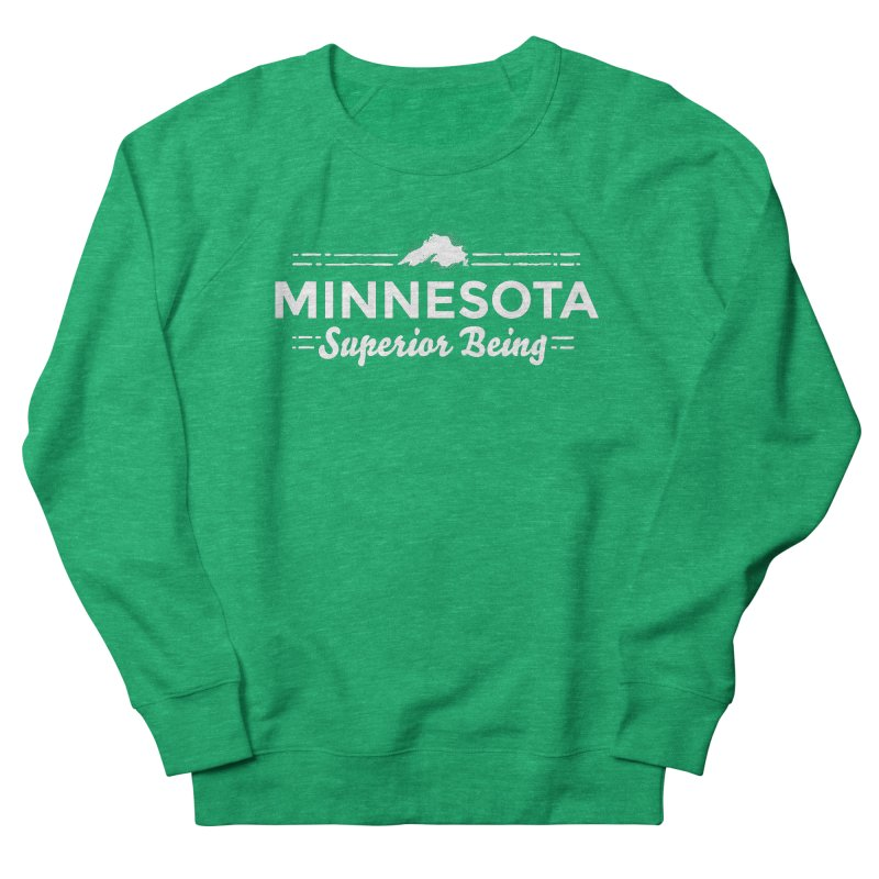 MN Superior Being (white) Women's French Terry Sweatshirt by Logo Mo Doodles, Drawings, and Designs