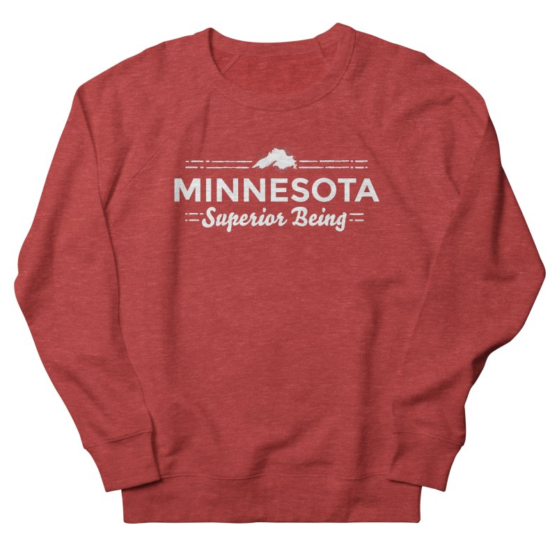 MN Superior Being (white) Men's French Terry Sweatshirt by Logo Mo Doodles, Drawings, and Designs