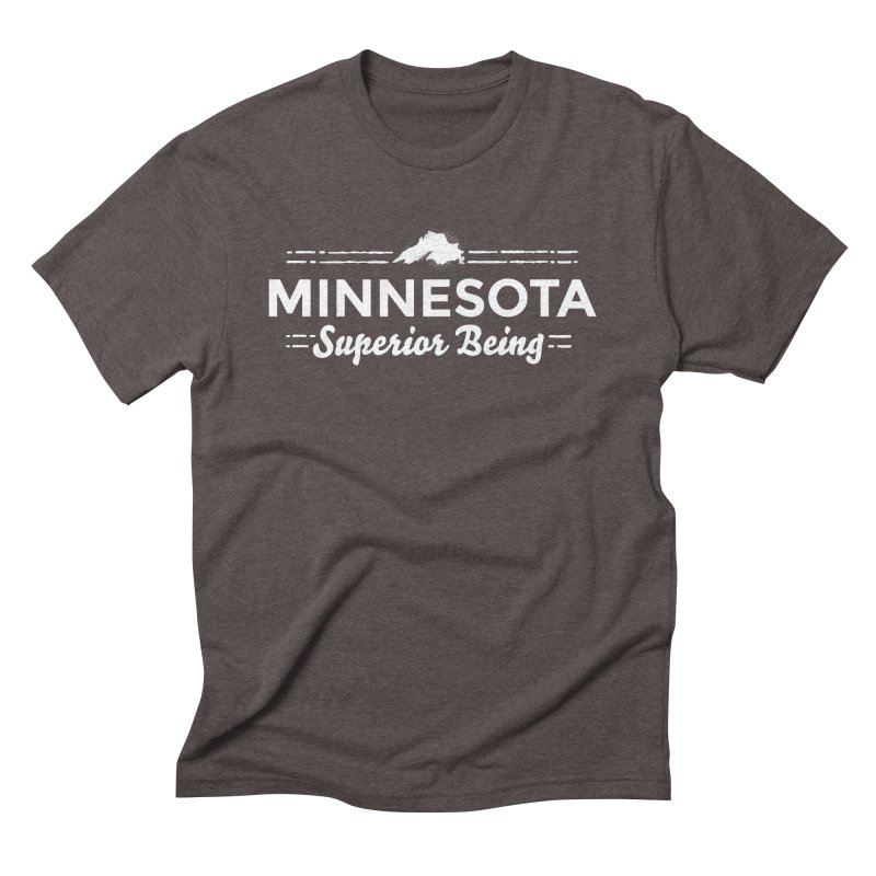 MN Superior Being (white) Men's Triblend T-Shirt by Logo Mo Doodles, Drawings, and Designs